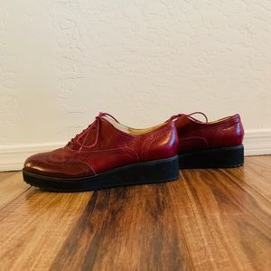 Nine West Red Platform Oxfords SIZE 11